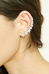 Forever 21 Faux Gem Star Ear Cuff Silver Multi