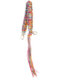 Red Valentino Braided Bag Charm Women Calf Leather One Size Red