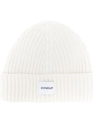 Dondup Knitted Hat Acrylic Wool White