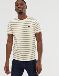 Jack And Jones Originals T Shirt In Stripe With Chest Logo Badge White