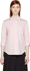 Comme Des Garcons Girl Pink Peter Pan Collar Shirt