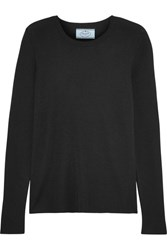 Prada Cashmere And Silk Blend Sweater Black
