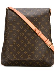 Louis Vuitton Vintage Large 'Musette' Crossbody Bag Brown