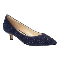 Lotus Pinnacle Kitten Heel Courts Blue