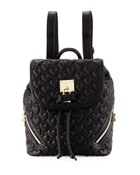 Betsey Johnson Always Be Mine Faux Leather Backpack Black