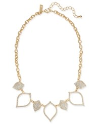 Inc International Concepts Gold Tone White Stone Statement Necklace Created At Macy's