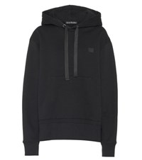Acne Studios Ferris Face Oversized Cotton Hoodie Black