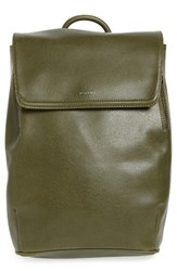 Matt And Nat 'Fabi' Faux Leather Laptop Backpack Green Olive