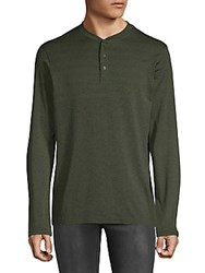 Hawke And Co Seamless Long Sleeve Henley Forest Night