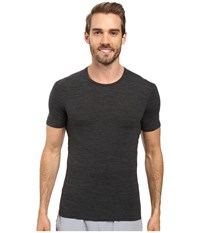 Icebreaker Anatomica Short Sleeve Crewe Jet Heather Black Men's T Shirt
