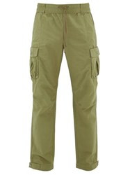 John Elliott Panorama Cotton Ripstop Cargo Trousers Green