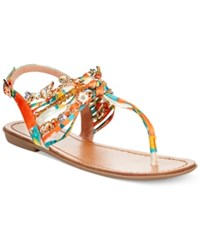 Zigi Soho Aada T Strap Flat Sandals Women's Shoes