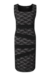 James Lakeland Sleeveless Lace Band Dress Black