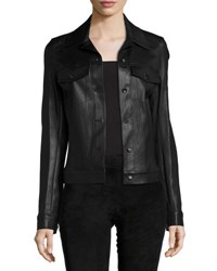 The Row Coltra Lambskin Leather Jacket Black