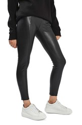 Topshop Women's Percy Faux Leather Skinny Pants Black