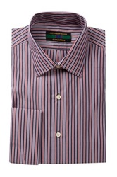 Alexander Julian Striped Long Sleeve Regular Fit Shirt Red