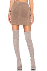 Blank Nyc Suede Skirt Taupe