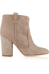 Laurence Dacade Pete Studded Suede Ankle Boots Mushroom
