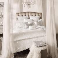 Kylie Minogue At Home Renata Duvet Cover Oyster White