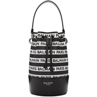 Balmain Black Small Logo Bucket Bag