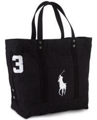 Polo Ralph Lauren Men's Big Pony Canvas Tote Polo Black