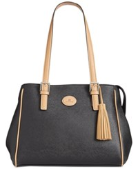 Giani Bernini Saffiano Tote Only At Macy's Black