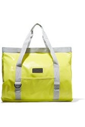 Adidas By Stella Mccartney Canvas Trimmed Neon Coated Pvc Swim Tote Bright Yellow