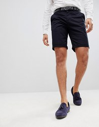 Solid Slim Fit Chino Short In Black Black