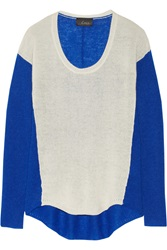 Line The Impartial Two Tone Cashmere Sweater Blue