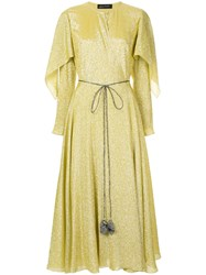 Anna October Cape Wrap Dress Yellow