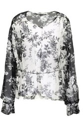 Lover Woman Printed Silk Georgette Blouse Off White Off White