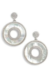 Nina Mother Of Pearl Drop Earrings Mother Of Pearl Silver