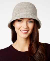 August Hats Chenille Cloche Grey