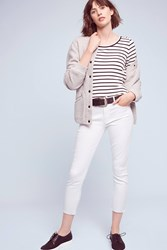 Anthropologie Mother Looker Mid Rise Skinny Jeans White