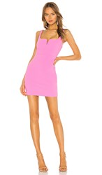 Likely Mini Constance Dress In Pink. Neon Pink