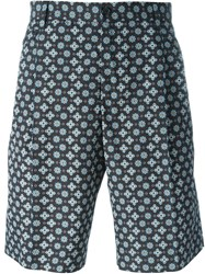 Dolce And Gabbana Tie Print Tailored Shorts Black
