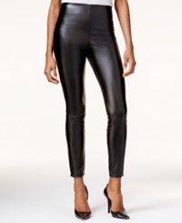 Guess High Rise Faux Leather Leggings Black