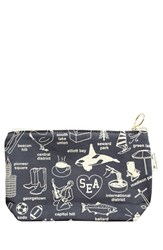 Maptote 'Seattle' Canvas Zip Pouch Grey