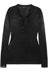 Tom Ford Coated Knitted Top Black