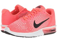 Nike Air Max Sequent 2 Hot Punch Black Wolf Grey White Women's Running Shoes Pink