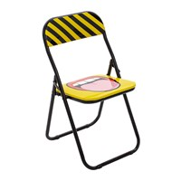 Seletti 'Blow' Folding Chair Metal Tounge