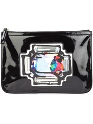 Pierre Hardy Printed Clutch Black