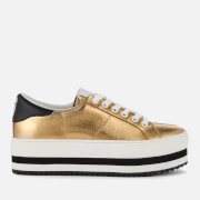Marc Jacobs Women's Grand Leather Platform Trainers Gold