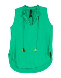 Melissa Mccarthy Seven7 Plus Tasseled Tank Top Mint