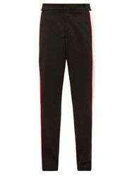 Burberry Mesh Panelled Tailored Jersey Trousers Black
