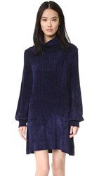 Free People New Moon Tunic Sweater Navy