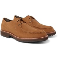 Tod's Suede Derby Shoes Tan
