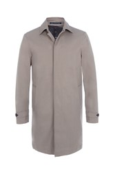 Paul Costelloe Men's Fanore Mid Length Raincoat Stone