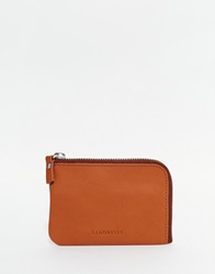 Sandqvist Penny Zip Leather Wallet Brown