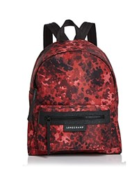 Longchamp Small Le Pliage Neo Fantaisie Backpack Ruby